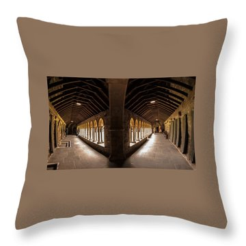 Cloisters On Isle Of Iona Throw Pillow