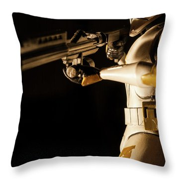 Throw Pillow featuring the photograph Clone Trooper 6  by Micah May