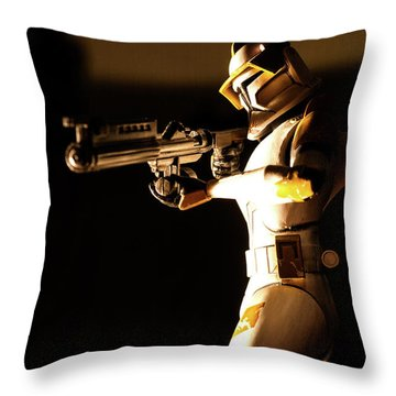 Throw Pillow featuring the photograph Clone Trooper 7 by Micah May