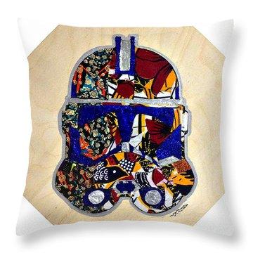 Clone Trooper Star Wars Afrofuturist Throw Pillow