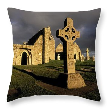 Clonmacnoise Monastery, Co Offaly Throw Pillow by The Irish Image Collection