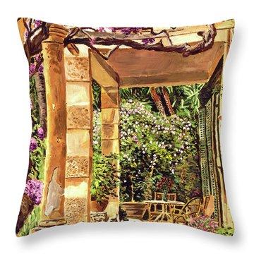 Clos Du Peyronnet Gardens Provence Throw Pillow