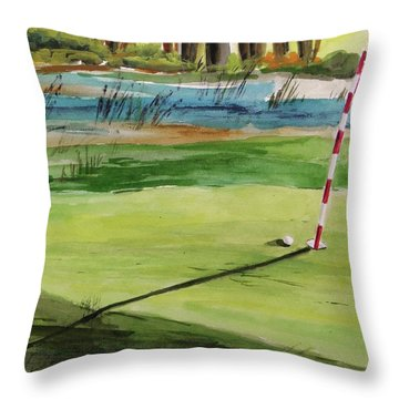 Close At The Eleventh Hole Throw Pillow