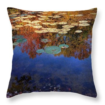 Close By The Lily Pond  Throw Pillow