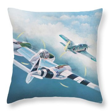 Close Encounter With A Focke-wulf Throw Pillow
