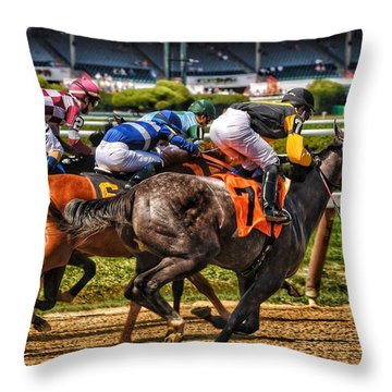 Close Running Throw Pillow