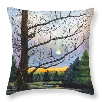 Close To Dusk Throw Pillow