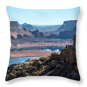 Close To The Edge Throw Pillow