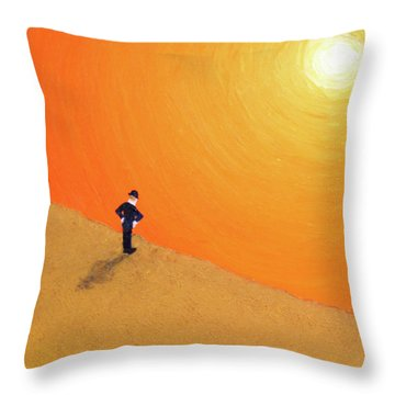 Close To The Edge Throw Pillow by Thomas Blood