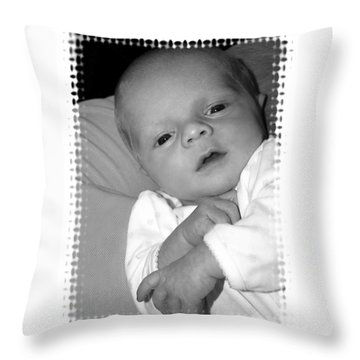 Close Up Baby Throw Pillow