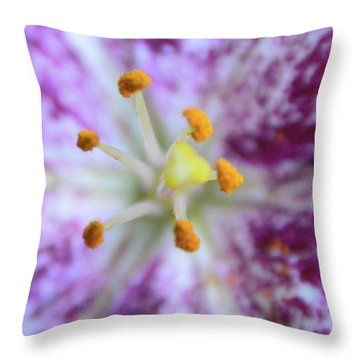 Close Up Flower Throw Pillow