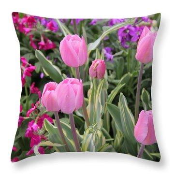 Close Up Mixed Planter Throw Pillow