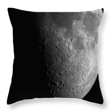 Close-up Of Moon Throw Pillow