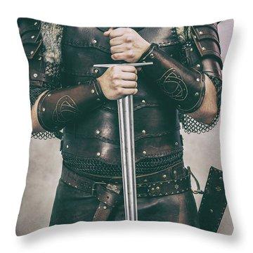 Close Up Of Viking Costume Throw Pillow