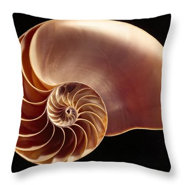 Close View Of Chambered Nautilus Throw Pillow by Victor R. Boswell, Jr