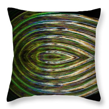 Throw Pillow featuring the digital art Closed Eye by Wendy Wilton