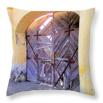 Closed, Permanently. Throw Pillow