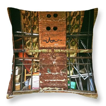 Throw Pillow featuring the photograph Closed Up by Anne Kotan