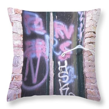 Closed Window And Hanger Throw Pillow