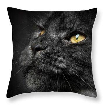 Throw Pillow featuring the photograph Closer by Robert Sijka