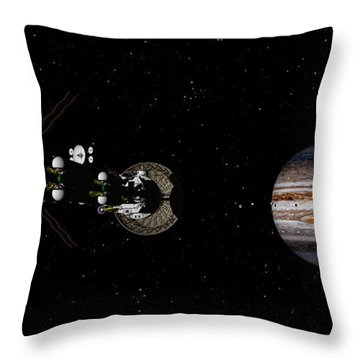 Throw Pillow featuring the digital art Closer Still by David Robinson