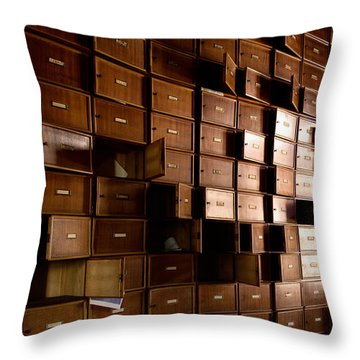 closet rhythm - Urban exploration Throw Pillow by Dirk Ercken