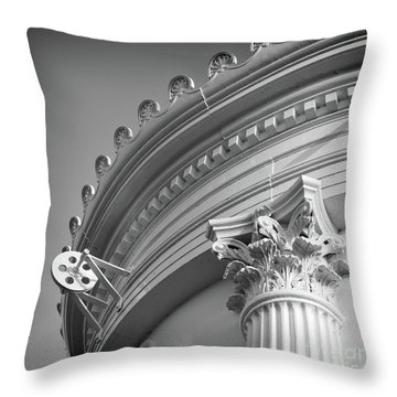 Throw Pillow featuring the photograph Closeup Of Lighthouse  -58750 by John Bald