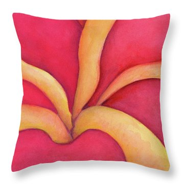 Closeup Of Red Rose Throw Pillow