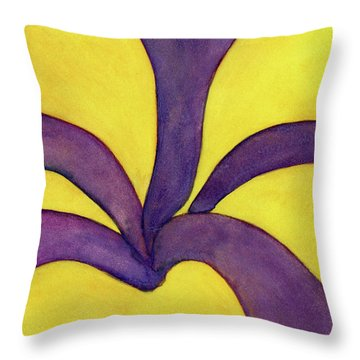 Closeup Of Yellow Rose Throw Pillow