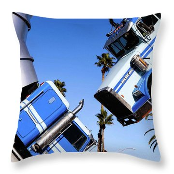 Closeup On Big Rig Jig Throw Pillow