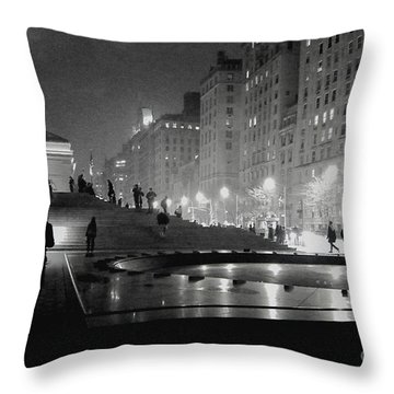 Closing At The Met Throw Pillow by Sandy Moulder