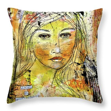 Clothed In Gentle Words Throw Pillow