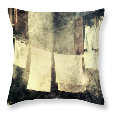 Clothes Hanging Throw Pillow