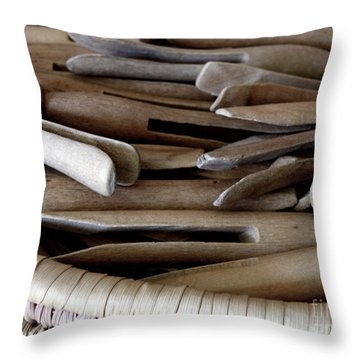 Clothes-pins Throw Pillow by Lainie Wrightson