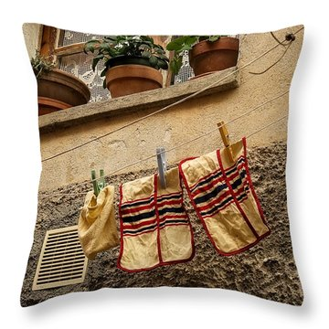 Clothesline In Biot Throw Pillow