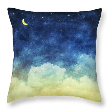 Cloud And Sky At Night Throw Pillow