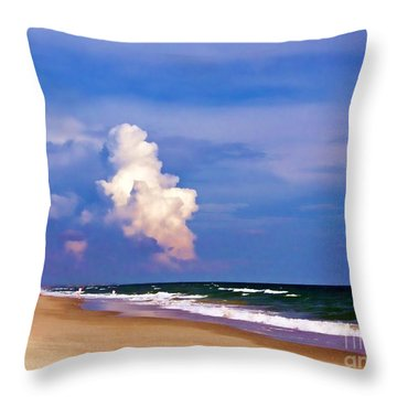 Throw Pillow featuring the photograph Cloud Approaching by Roberta Byram