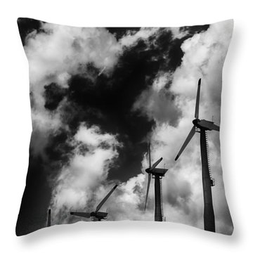 Cloud Blowers Throw Pillow