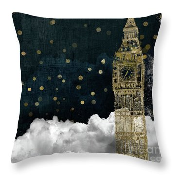 Cloud Cities London Throw Pillow