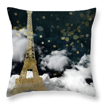 Cloud Cities Paris Throw Pillow
