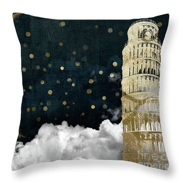 Cloud Cities Pisa Italy Throw Pillow by Mindy Sommers