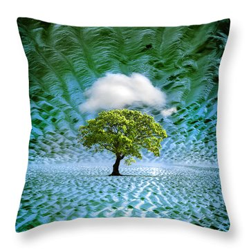 Cloud Cover Recurring Throw Pillow by Mal Bray