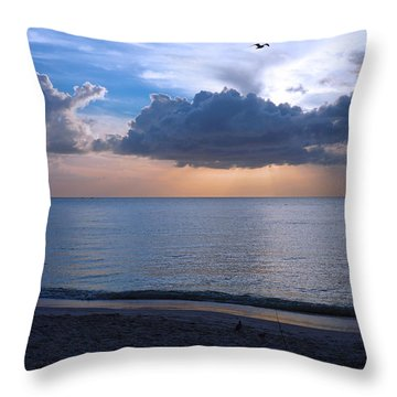 Cloud Creatures At Delnor Wiggins Pass State Park Throw Pillow