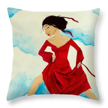 Cloud Dancing Of The Sky Warrior Throw Pillow