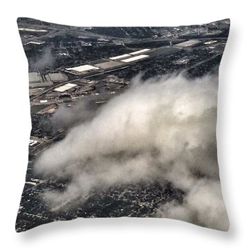 Cloud Dragon Throw Pillow
