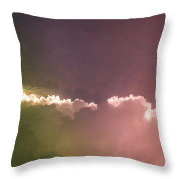 Cloud Eruption Throw Pillow