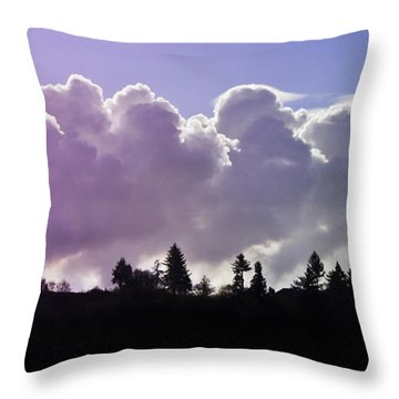 Cloud Express Throw Pillow