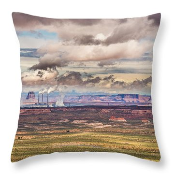 Cloud Factory Throw Pillow