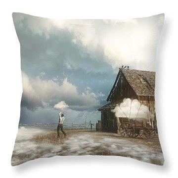 Cloud Farm Throw Pillow