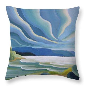 Cloud Forms Throw Pillow